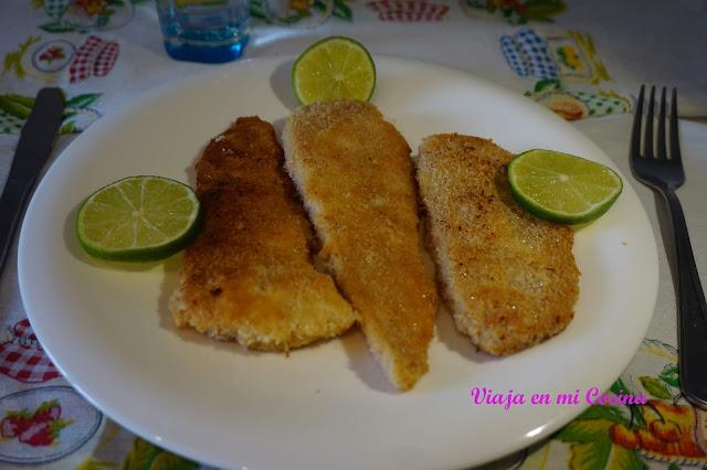 Pescado 'empanado' en coco