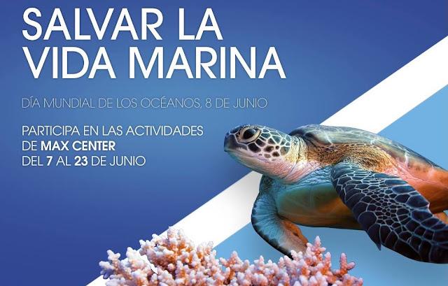 Cartel de la campaña de Max Center sobre los océanos