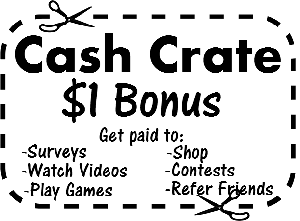 Take surveys and make money with CashCrate join today and get $1 Bonus!