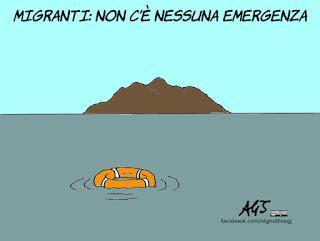 emergenze, naufragi, barconi, migramti, renzi, satira, vignetta