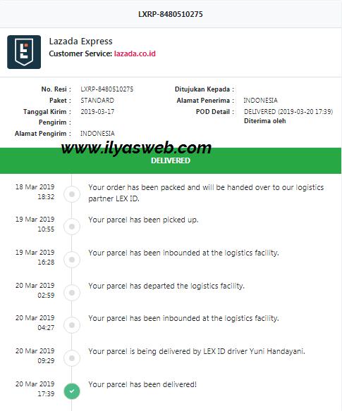 Cek Resi Lgs : Lazada, Ekspedisi