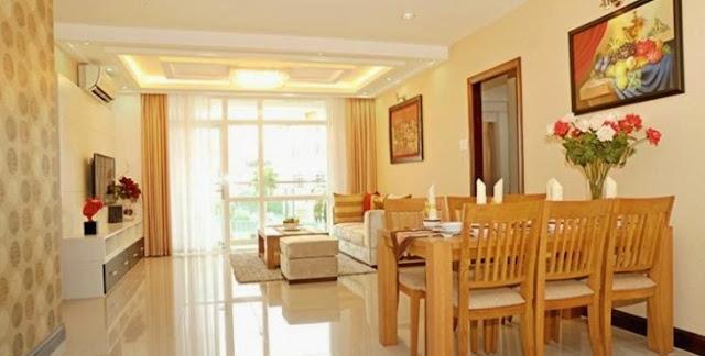 Thiết kế phòng khách sang trong biệt thự gamuda