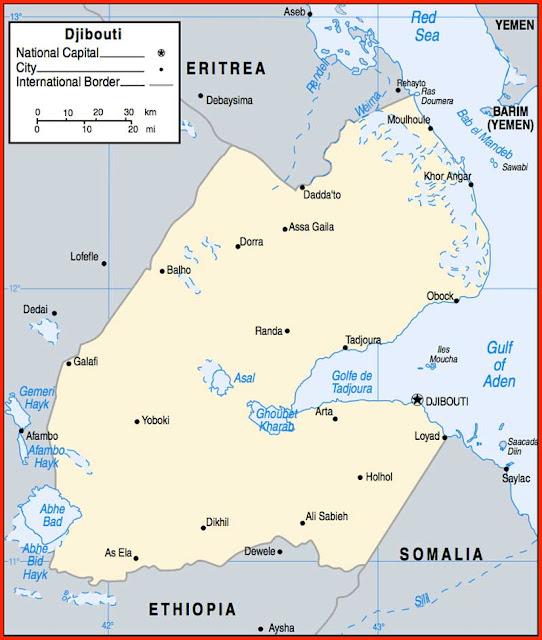 Gambar Peta politik Djibouti