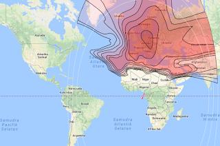 Footprint Satellite Eutelsat 7B 7.0°E KU Band