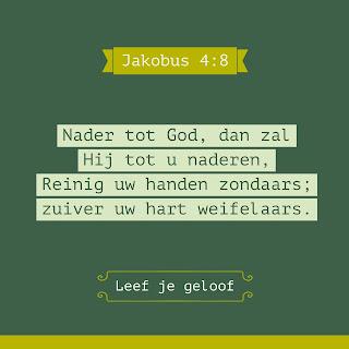 Leef je geloof, Hillie Snoeijer, Nader tot God, Jakobus 4:8