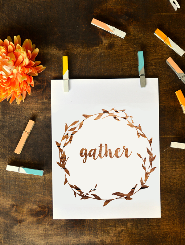 free printable - gather