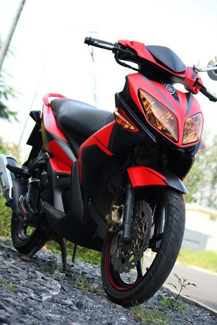 Nouvo LX sơn phối màu đỏ đen nhám cực đẹp