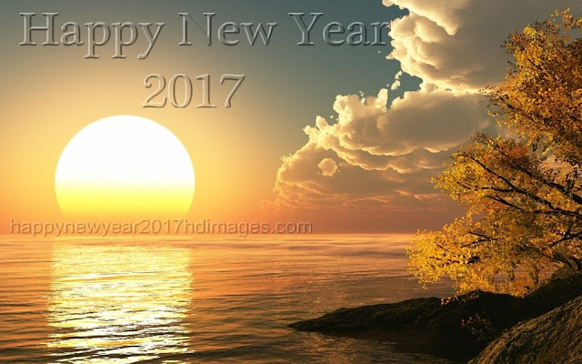 Happy New Year 2017 Nature Wallpapers with sun