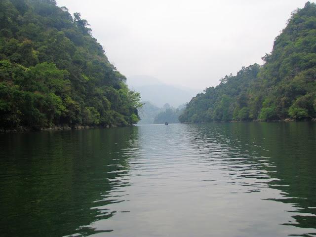 boat tour ba be national park vietnam