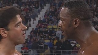 WCW Souled Out 1998 - Rick Martel challenged Booker T for the TV title