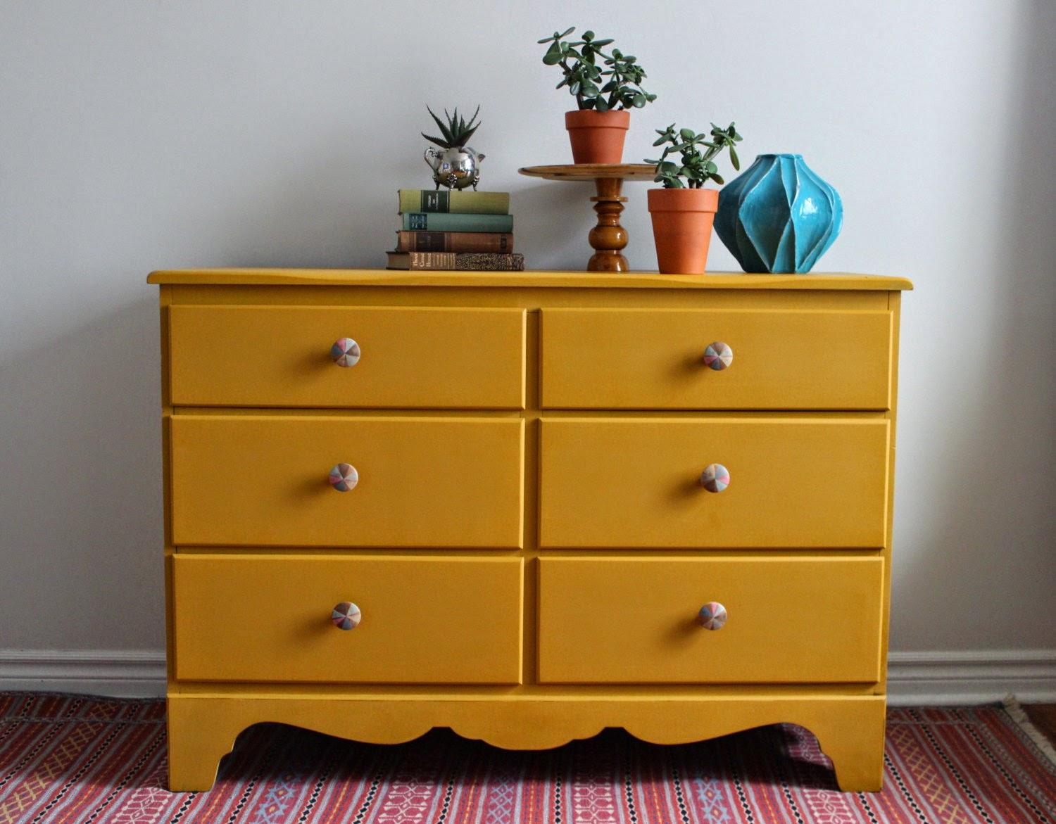 Completely new Poppyseed Creative Living: Mustard Yellow Dresser with Hand  KZ87