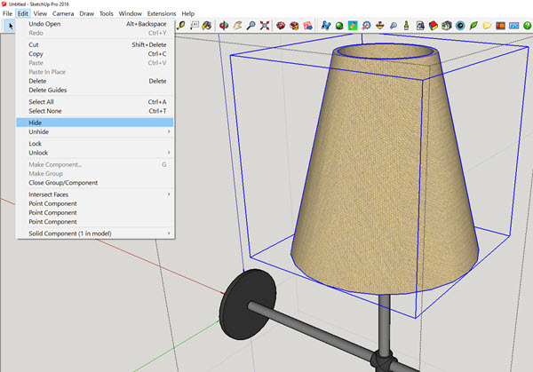 SketchUp Rendering: How to Make an IRender Ready Light Fixture