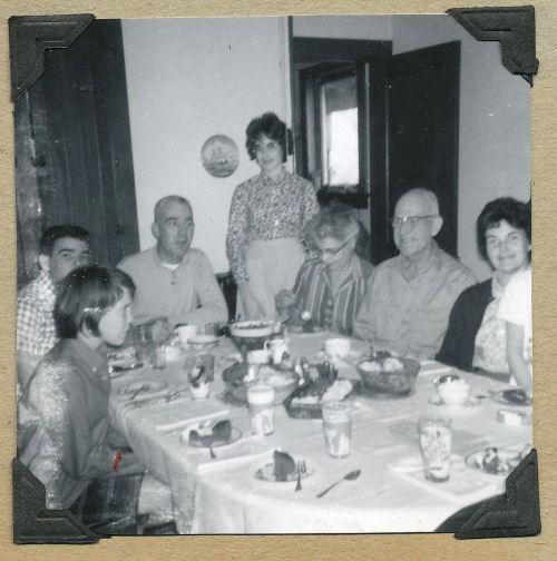 family dinner in 1963