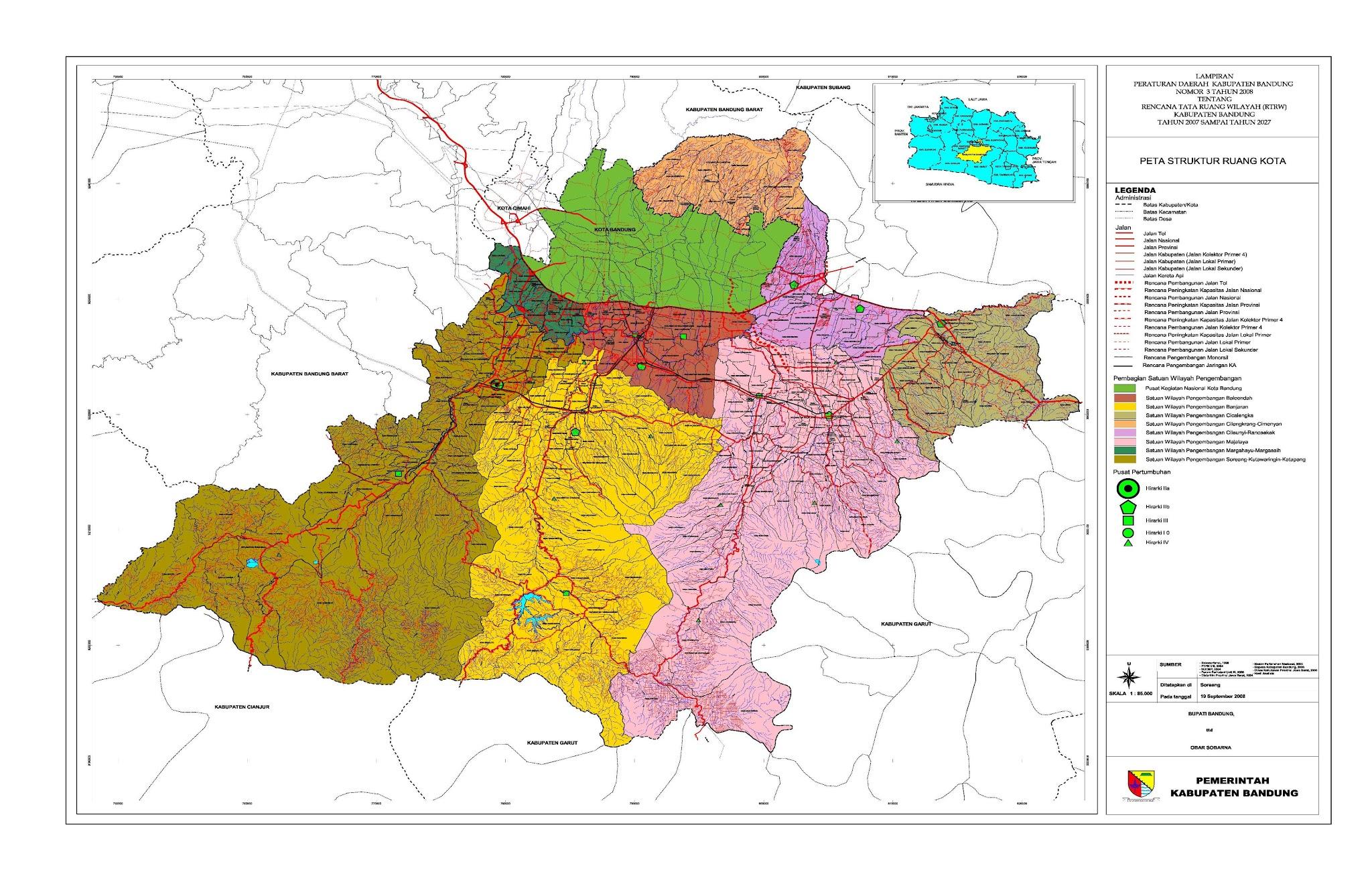 Peta Kota: Peta Kabupaten Bandung