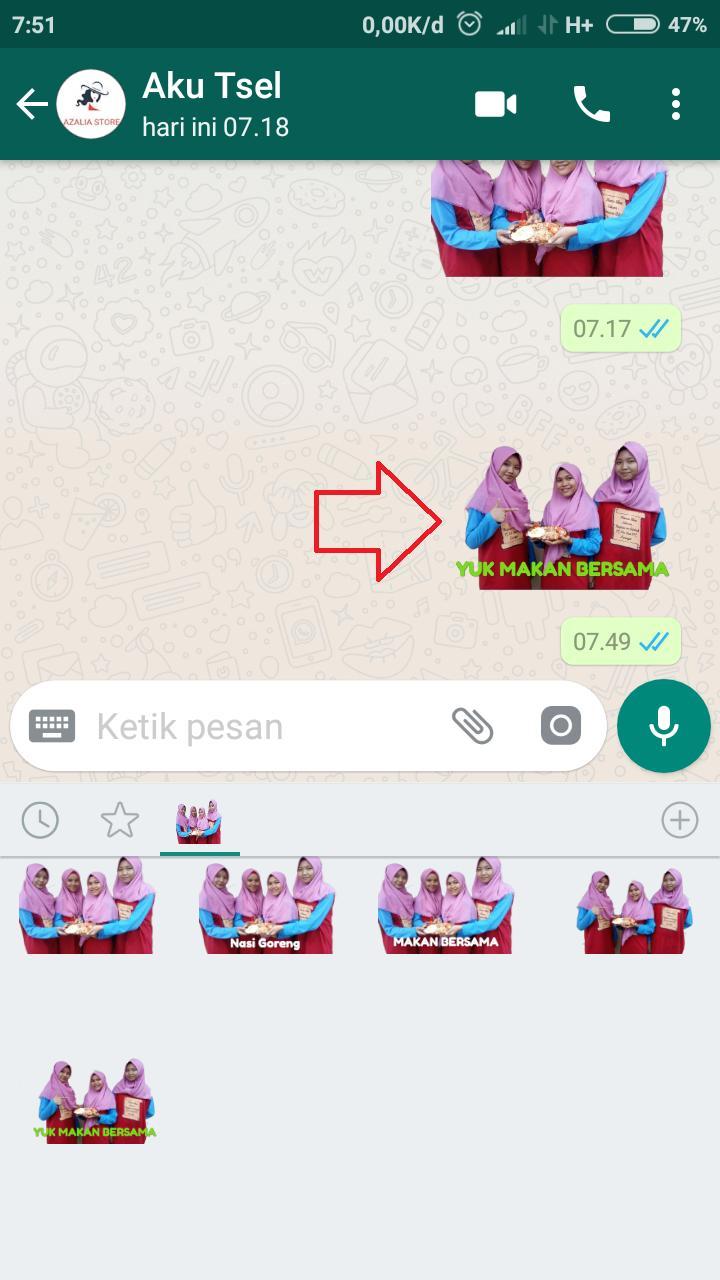 Cara Membuat Stiker di WhatsApp dengan Wajah Sendiri