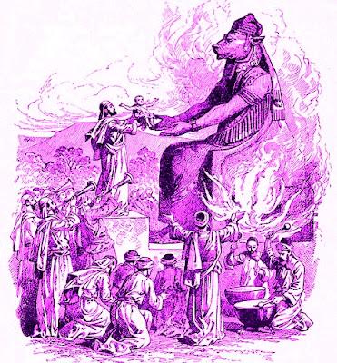 Sacrificio humano ante el dios Melkart