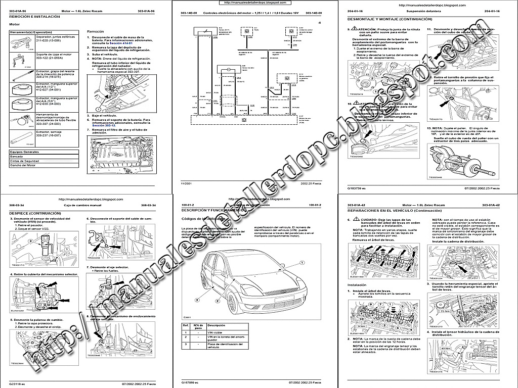 manual de taller ford fiesta power