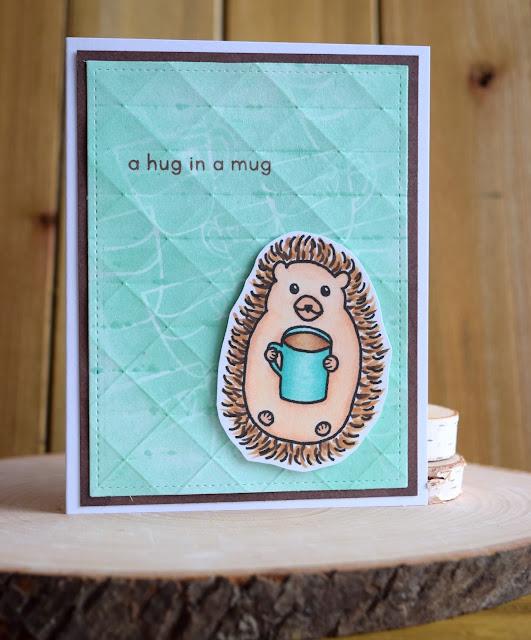 Coffee Loving Hedgehog Card by Jess Gerstner using Jess Crafts Digital Stamps