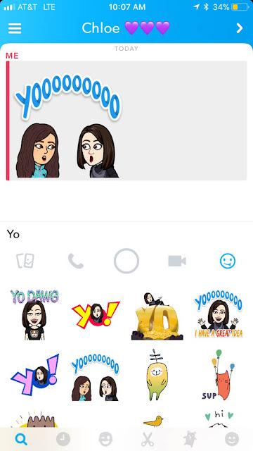 using bitmoji and friendmoji on snapchat