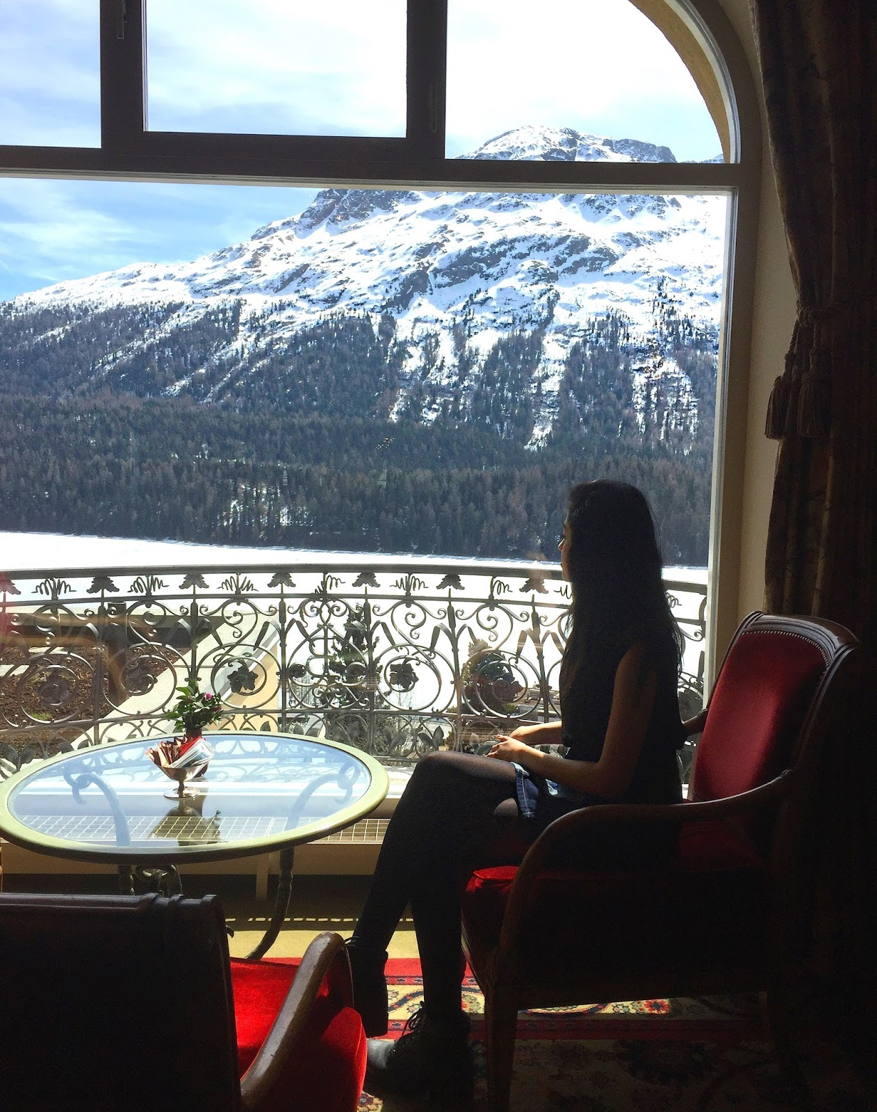 Luxury Hotel View in St Moritz