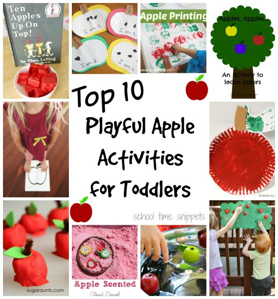 10 Playful Apple Activities Your Toddler Will Love | School Time ...
