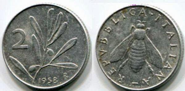 prezzo 2 lire 1958