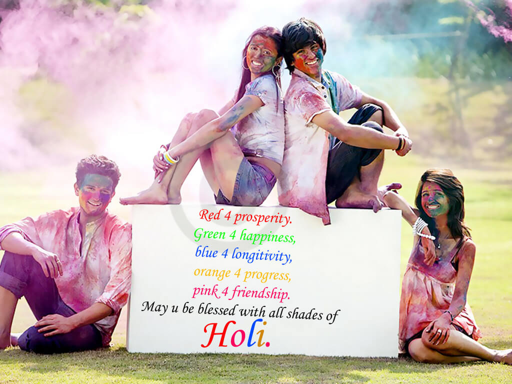 Happy Holi Wishes SMS Quotes for Friends & Relatives