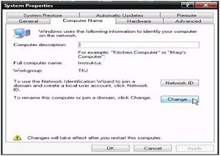 Konfigurasi Nama Komputer