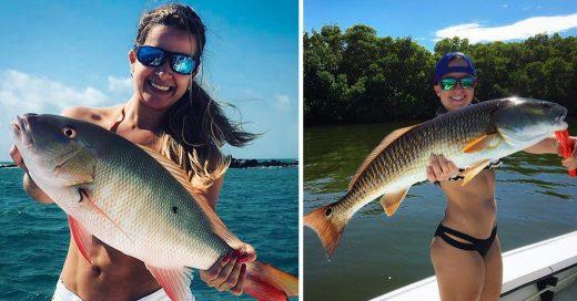 Ahora en Instagram la moda es usar un pescado como brasier