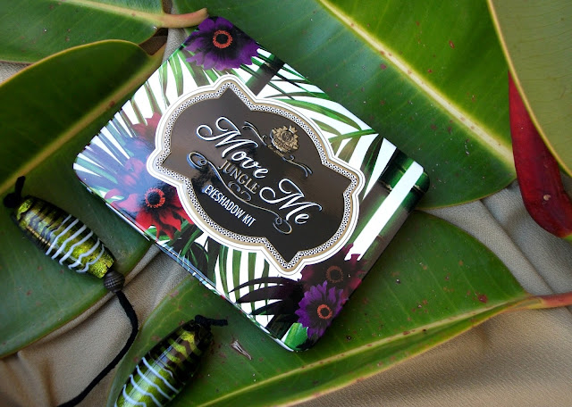 Viva La Diva Move Me Jungle eyeshadow kit, Tropical palette with swatches, review and 70's mood outfit