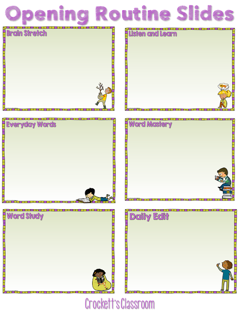 You can keep your reading lesson on track by creating Power Point slides that guide your through your daily routine.