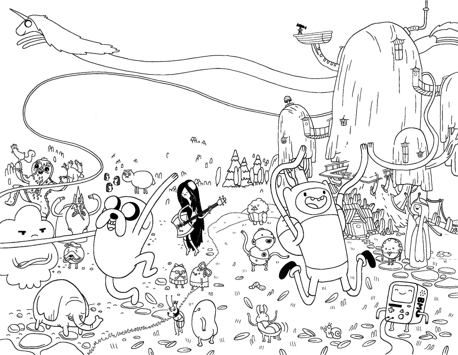 Adventure Time Coloring Pages To Print For Free