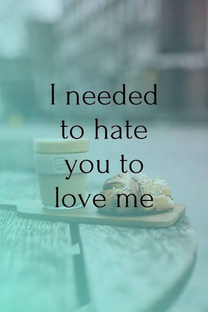 I needed to hate you to love me