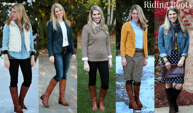 cognac riding boots for fall