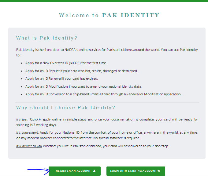 nadra token number