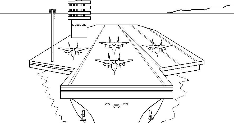 Arte No Paint: Desenho Para Colorir: Porta-aviões