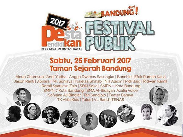Pestival Pendidikan Sabtu 25 Februari 2017 di Taman Sejarah Bandung