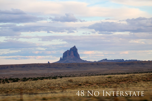 48 No Interstate back roads cross country coast-to-coast road trip Ship Rock New Mexico