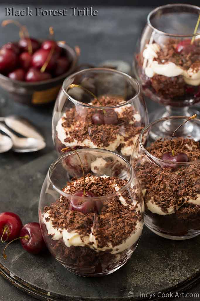 how to make black forest trifle recipe