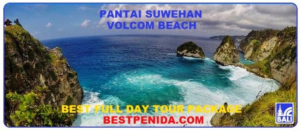 pantai suwehan nusa penida, volcom beach, best full day tour, paket tour nusa penida bali, paket tour bali, tour bali package price