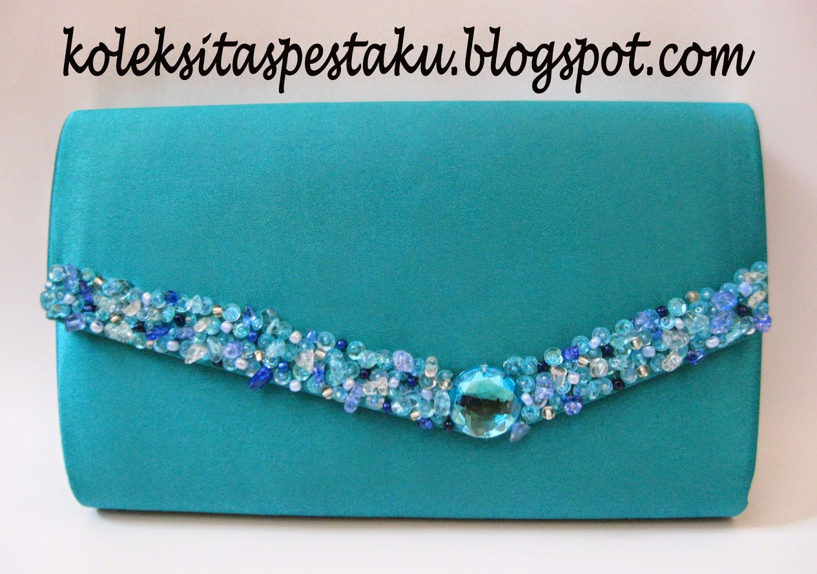 Tas Pesta - Clutch Bag  taspestaku  Cantik dan Elegant Biru Tosca ... f700a1a9e0