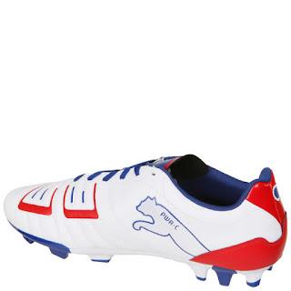 Buen Precio: ¡Muy Baratas! Puma Powercat 4.12 FG Botas de Fútbol - Blanco/Rojo/Azul