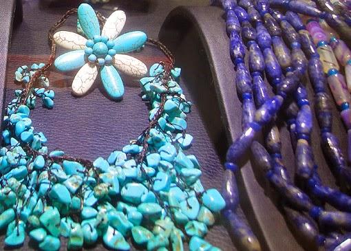 Ethnic necklace design of Lapiz Lazuli and Tourquoise