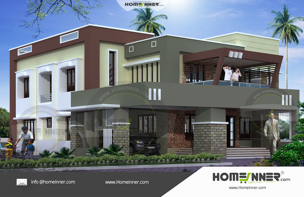 Kerala home design with plan