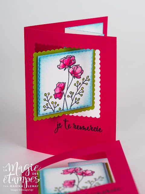 Carte Stampin' Up! avec pliage original