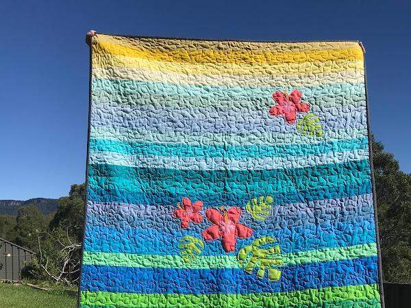 Tropical Sunset Quilt - An Aussie Hero Quilt