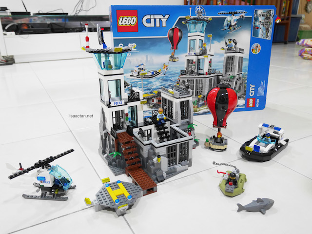 We had fun assembling our LEGO City Prison Island today