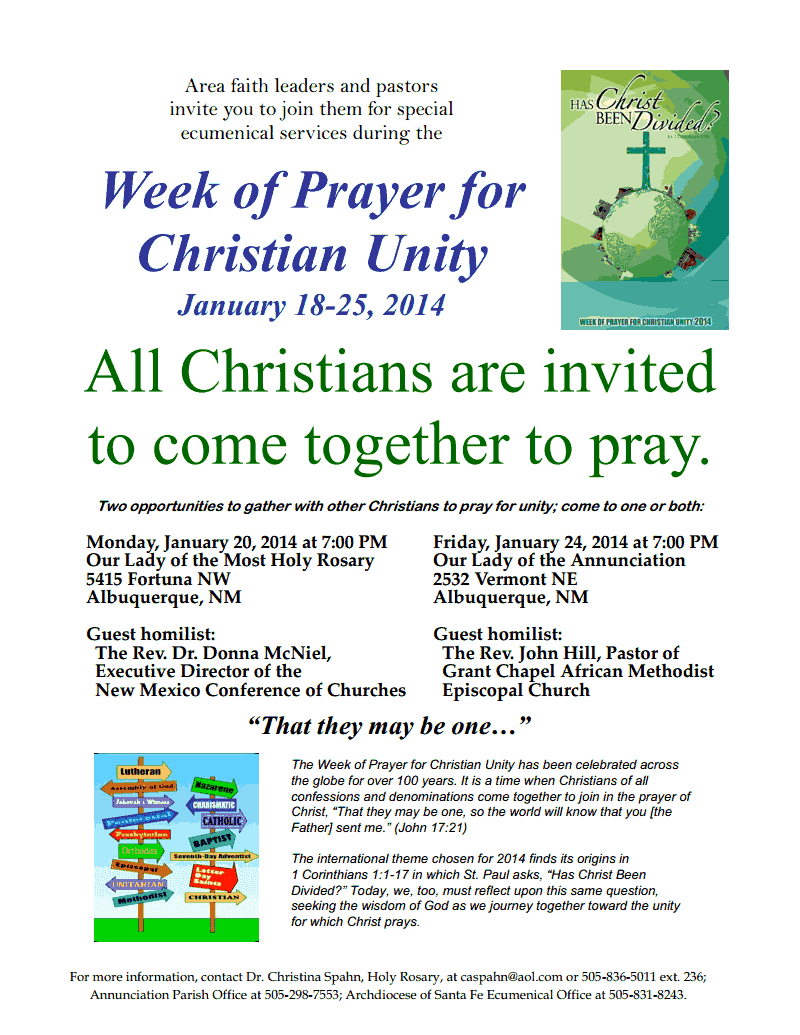 Bread New Mexico Blog: Join us for Week of Prayer for