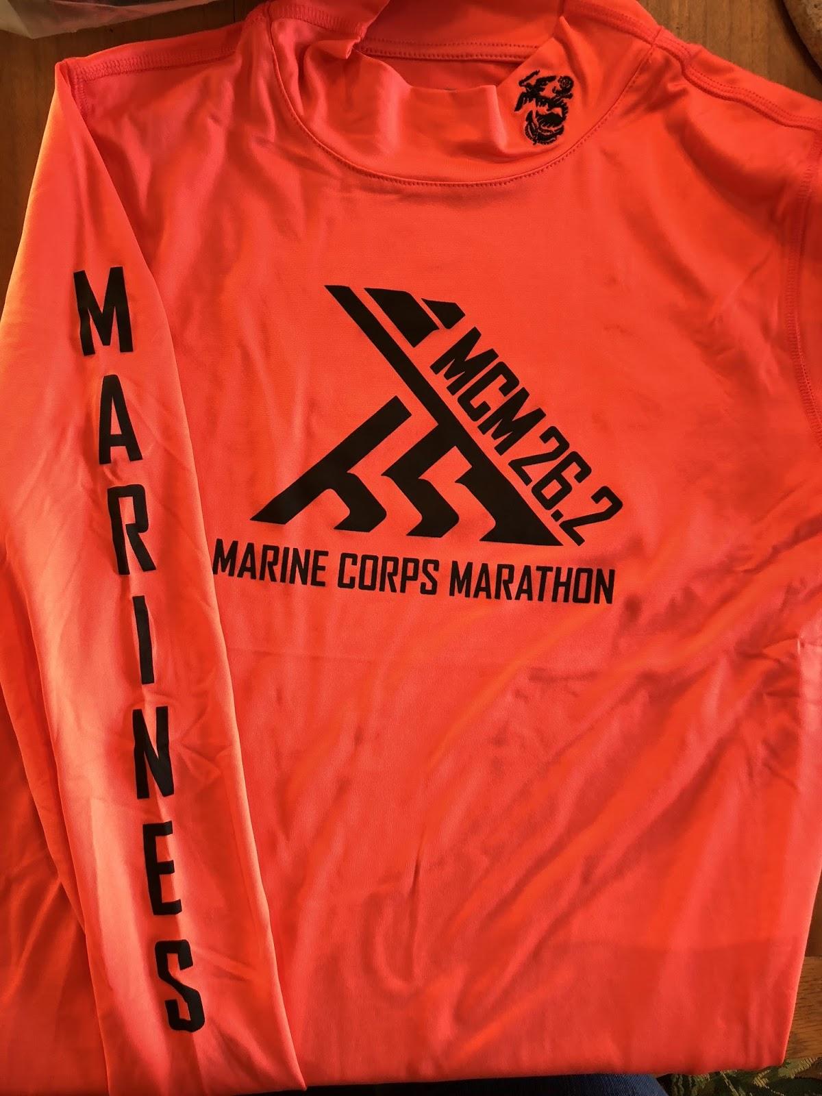 The thrifty runner 2017 marine corps marathon race recap for Marine corps marathon shirt 2017