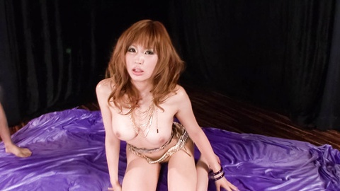 WATCH Ai Sakura giving a rough and cock-hardening double blowjob